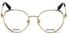 Okulary Korekcyjne Guess GU 2700 52 032 Złote Okrągłe Damskie