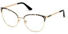 Okulary Korekcyjne Guess GU 2715 001 Rozmiar 54 Kocie Złote Damskie