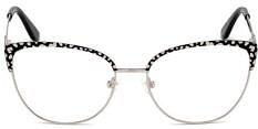 Okulary Korekcyjne Guess GU 2715 005 Rozmiar 54 Srebrne Kocie Damskie
