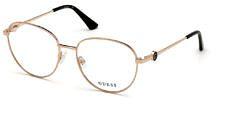 Okulary Korekcyjne Guess GU 2756 028 Okrągłe Złote Damskie