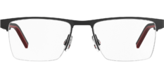 Okulary Korekcyjne Hugo Boss HG 1066 BLX Czarno – Czerwone Metalowe Męskie
