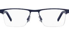 Okulary Korekcyjne Hugo Boss HG 1066 FLL Czarno – Niebieskie Metalowe Męskie