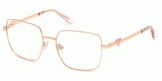 Okulary Korekcyjne Guess GU 2728 028 Złote Różowe Damskie