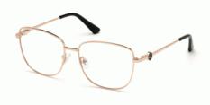 Okulary Korekcyjne Guess GU 2757 028 Złote Metalowe Damskie