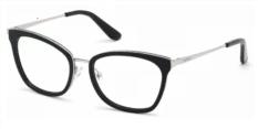 Okulary Korekcyjne Guess GU 2706 001 Kocie Czarne, Srebrne Damskie