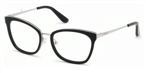 Okulary Korekcyjne Guess GU 2706 001 Czarne Kocie Damskie Najlepsze-Okulary.pl