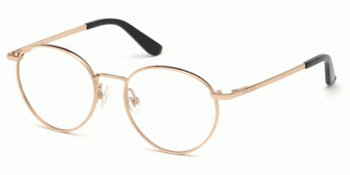 Okulary Korekcyjne Guess 2725 50 028 Złote Okrągłe Damskie