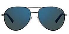 Okulary Przeciwsłoneczne Polaroid PLD 2069/F/S/X  6LB 61-5X Aviator z Lustrzanką Niebieską