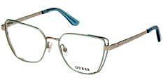 Okulary Korekcyjne Guess GU 2793 095 Zielone Damskie