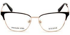 Okulary Korekcyjne Guess GU 2795 001 Klasyczne Złoto Czarne Damskie