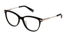 Okulary Korekcyjne FURLA VFU 355 0700 Czarne Kocie Damskie