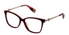 Okulary Korekcyjne FURLA VFU 356 09FH Kocie Czerwone Damskie