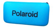 Etui na Okulary Polaroid na Zamek – Niebieskie