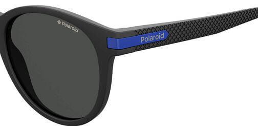 Okulary Przeciwsłoneczne Polaroid PLD 2087S_0VKM9_P02 Czarne Okrągłe Najlepsze-Okulary.pl