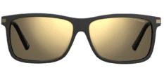 Okulary Przeciwsłoneczne Polaroid PLD/S 2075/S/X 003 59-LM Czarne Złote Męskie