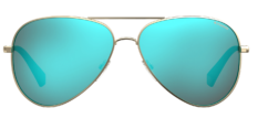 Okulary Przeciwsłoneczne Polaroid PLD/S 6012/N/NEW J5G 56-5X Złoto Niebieskie