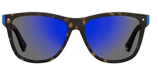Okulary Przeciwsłoneczne Polaroid PLD 6035S_N9P5X_P02 Szare Niebieskie Panterka Braż Damskie Najlepsze-Okulary.pl