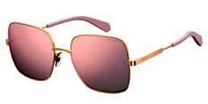 Okulary Przeciwsłoneczne Polaroid PLD/S 6060 EYR 57-OJ Złote z Różową Lustrzanką Damskie