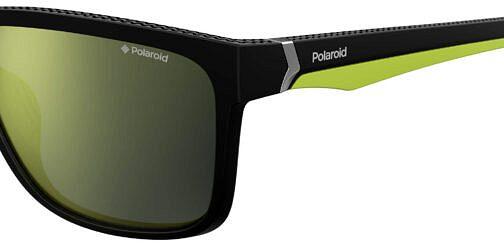 Okulary Przeciwsłoneczne Polaroid PLD 7014S_PGCLM_P02 Czarne Zielone Klasyczne Męskie Najlepsze-Okulary.pl