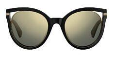 Okulary Przeciwsłoneczne Polaroid PLD/S 4067 2M2 51-LM Czarna Kocia z Lustrzanką Złotą Damska