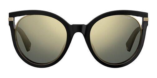 Okulary Przeciwsłoneczne Polaroid PLD 4067S_2M2LM_P02 Czarne Koty ze Złotą Lustrzanką Najlepsze-Okulary.pl