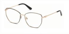 Okulary Korekcyjne Guess GU 2825 001 Złote, Czarne Damskie