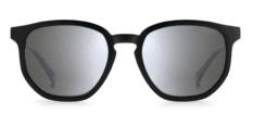 Okulary Przeciwsłoneczne Polaroid PLD 2095 003 MATT Czarne, Matowe, Klasyczne Męskie z Lustrzanką