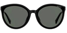 Okulary Przeciwsłoneczne Polaroid PLD 4082 807 M9 Czarne Transparentne Okrągłe, Kocie Damskie