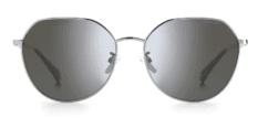 Okulary Przeciwsłoneczne Polaroid PLD 4106/G/S 6LB Metalowe, Szare z Lustrem Szarym Damskie