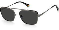 Okulary Przeciwsłoneczne Polaroid PLD 6131 R80 M9 Szare Metalowe