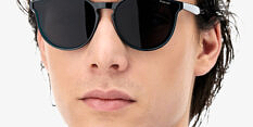 Okulary Przeciwsłoneczne Polaroid PLD 6143 KB7 Czarne Transparentne Okrągłe