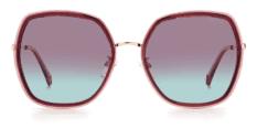 Okulary Przeciwsłoneczne Polaroid PLD 6153 B3V Malinowe Muchy Damskie