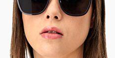 Okulary Przeciwsłoneczne Polaroid PLD 6153 KB7 M9 Czarne Muchy Damskie