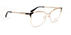 Okulary Korekcyjne Ana Hickmann AH 1116 09A Złote, Czarne, Różowe Kocie Damskie